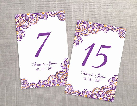 Table Number Template Word Luxury Free Printable Wedding Table Number Templates