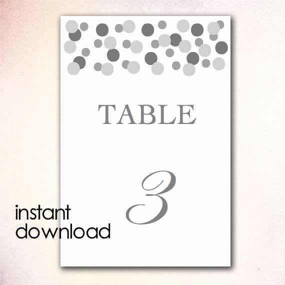 Table Number Template Word New Items Similar to Diy Table Numbers Template Instant