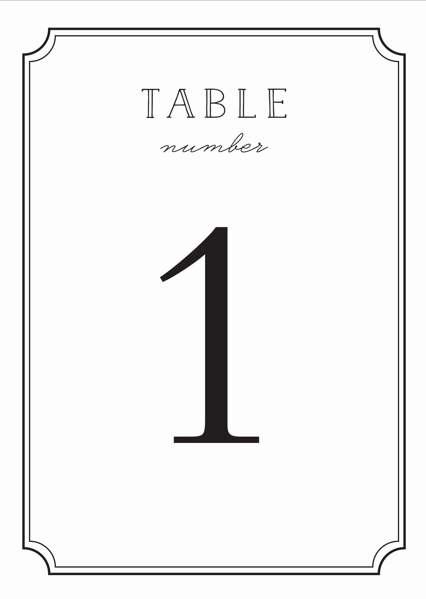 Table Number Template Word New Wedding Table Numbers