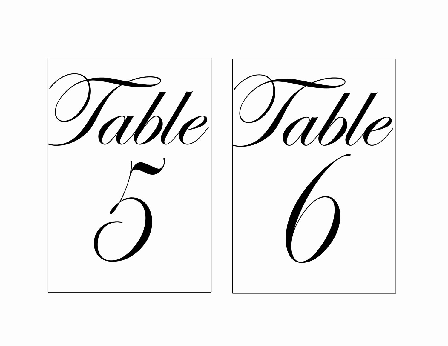 Table Number Template Word New Wedding Table Numbers Template Beepmunk
