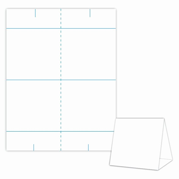 Table Tent Card Template Beautiful Table Tent Design Template Blank Table Tent White