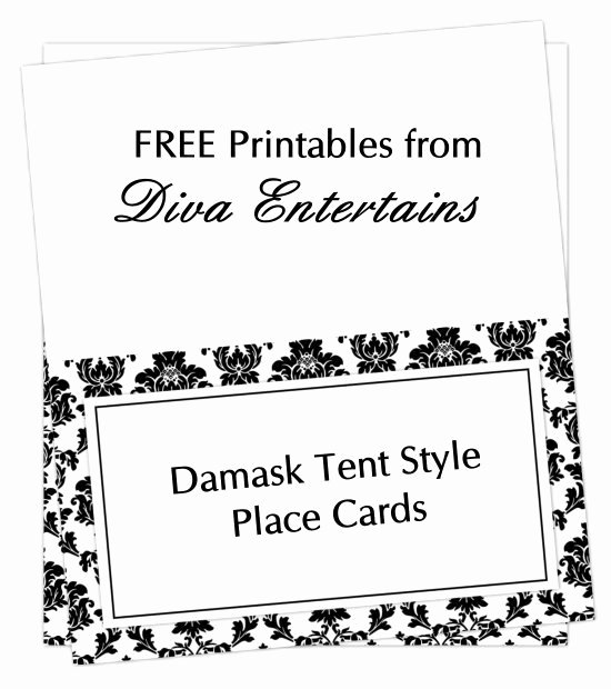 Table Tent Card Template Best Of Free Printable Table Tent Card Template