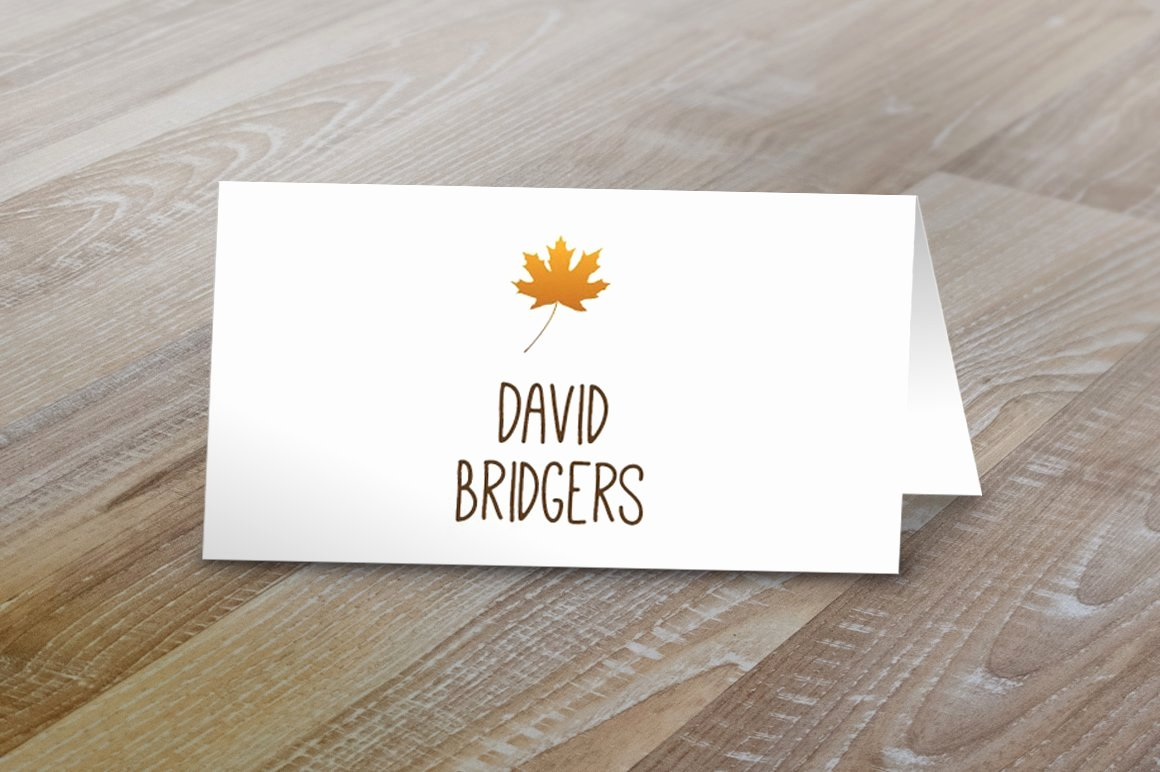 Table Tent Card Template Elegant Fall Table Tent Name Cards Card Templates Creative Market