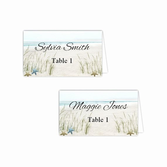 Table Tent Card Template Elegant Summer Fun Beach Table Tent Cards Diy Printable Template