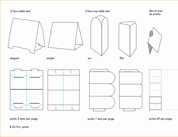 Table Tent Template Word Beautiful Free Printable Table Tent Card Template