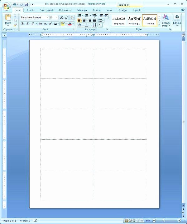 Table Tent Template Word Fresh Microsoft Word Table Tent Template 1 Per Page