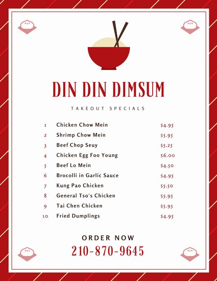 Take Out Menu Template Awesome Customize 24 Take Out Menu Templates Online Canva