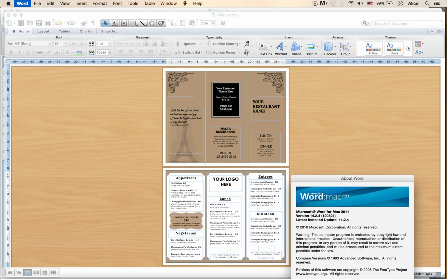 Take Out Menu Template Awesome Design & Templates Tri Fold Take Out Menu Menu Templates