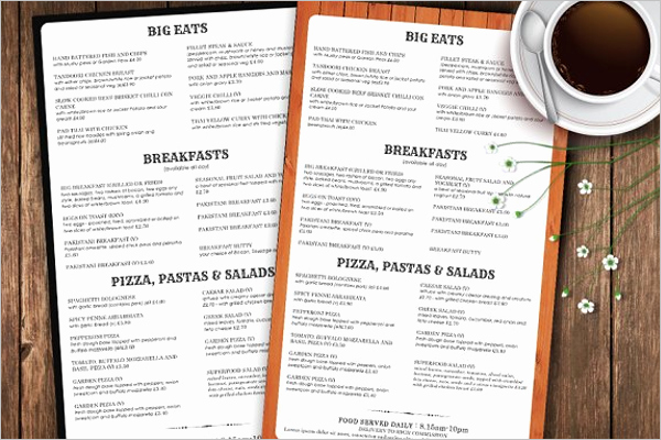 Take Out Menu Template Best Of Restaurant Take Out Menu Template