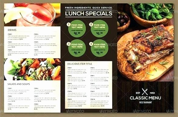 Take Out Menu Template Luxury Take Out Menu Template Free Documents Download Restaurant