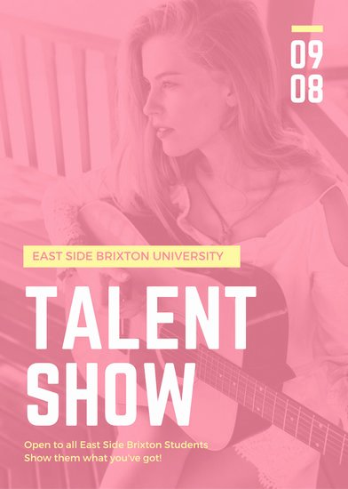 Talent Show Flyer Template Awesome Blue Yellow Star Talent Show Auditions Flyer Templates