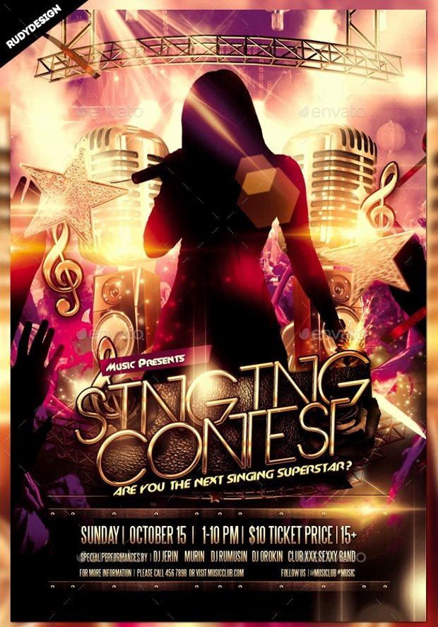 Talent Show Flyer Template Best Of 20 Talent Show Flyer Templates Printable Psd Ai