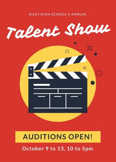 Talent Show Flyer Template Best Of Red and Yellow Talent Show Flyer Templates by Canva