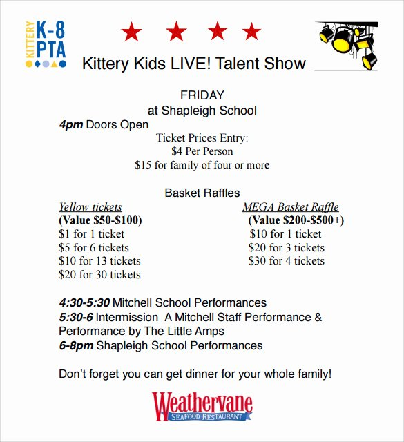 Talent Show Flyer Template Best Of Talent Show Flyer 7 Download Documents In Pdf Psd