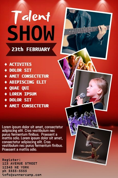 Talent Show Flyer Template Best Of Talent Show Flyer Template