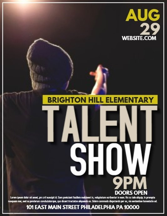 Talent Show Flyer Template Best Of Talent Template