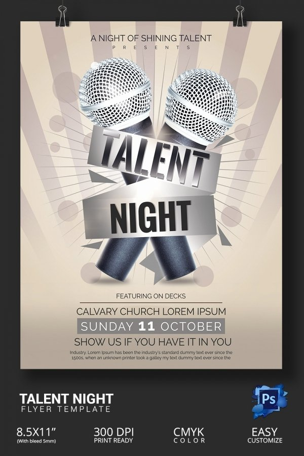 Talent Show Flyer Template Fresh 18 Amazing Talent Show Flyer Templates Psd