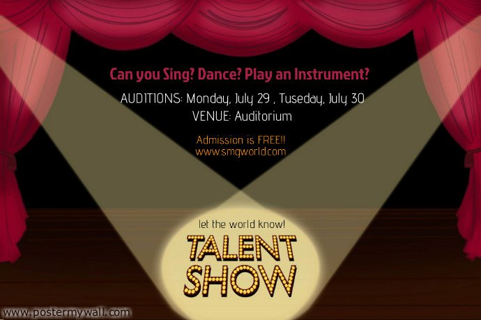 Talent Show Flyer Template Inspirational Talent Show Flyer Template