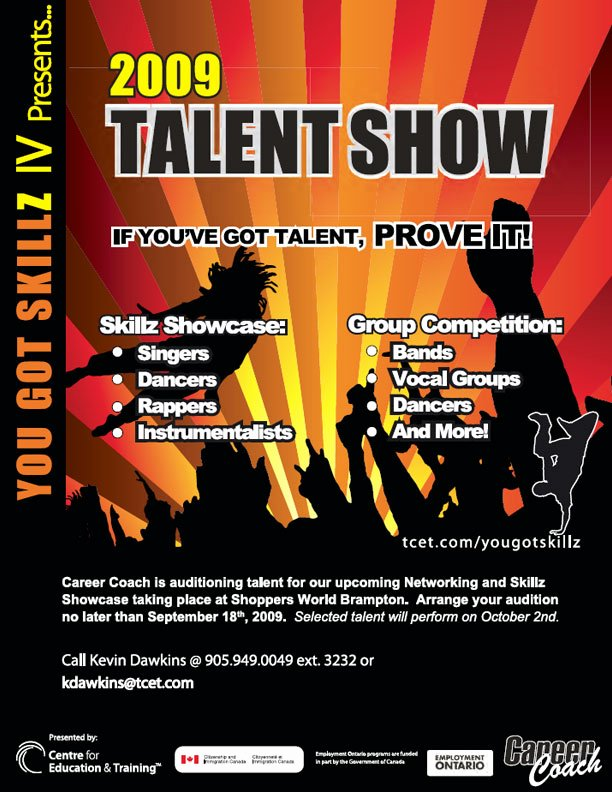 Talent Show Flyer Template Lovely Poster and Flyer Designs Sample