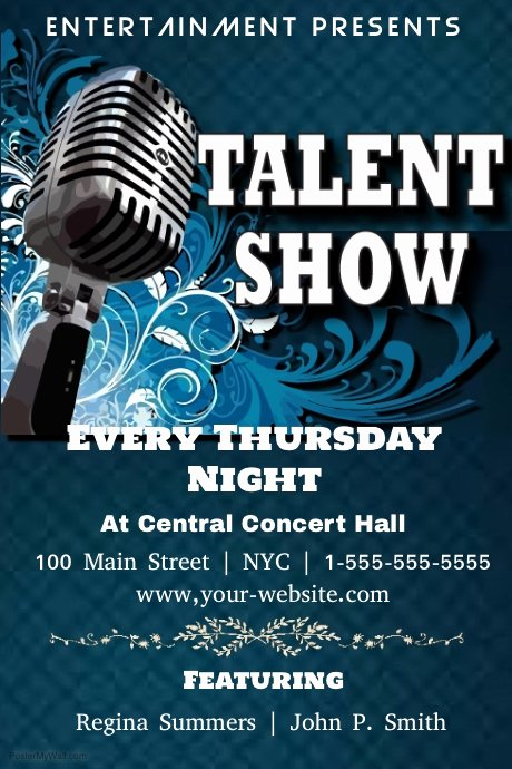 Talent Show Flyer Template Luxury Talent Show Template