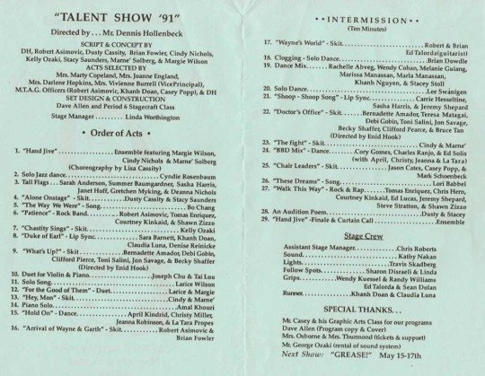 Talent Show Program Template Fresh the Gallery for Talent Show Program Template