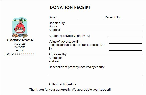 Tax Deductible Receipt Template Awesome 16 Donation Receipt Template Samples