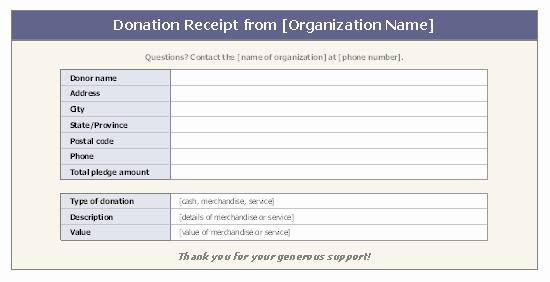 Tax Deductible Receipt Template Beautiful Donation Receipt