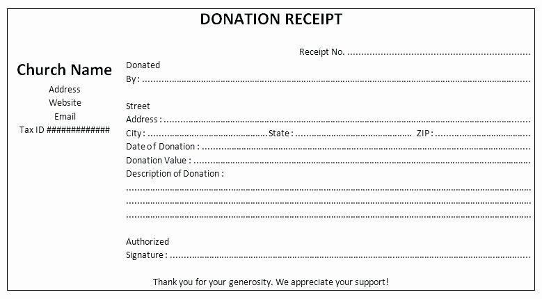 Tax Deductible Receipt Template Beautiful Non Profit Contribution Receipt Template Gift Non Profit