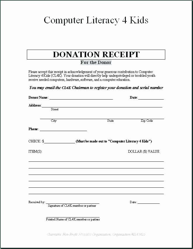 Tax Deductible Receipt Template Best Of Tax Deductible Donation Receipt Template Classic 40