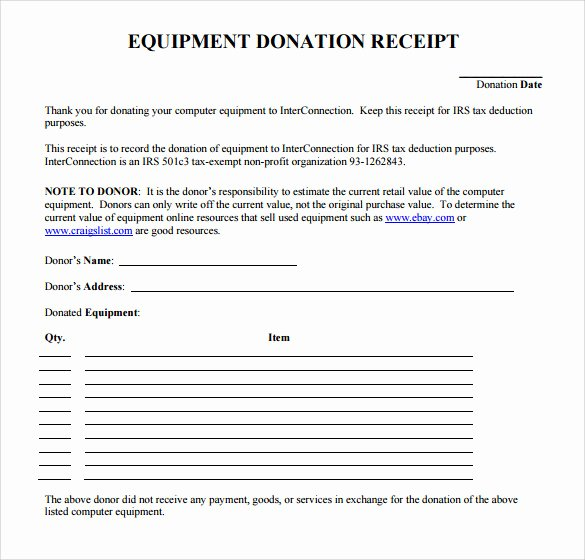 Tax Deductible Receipt Template Elegant 23 Donation Receipt Templates – Pdf Word Excel Pages
