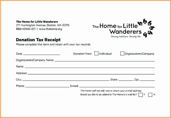 Tax Deductible Receipt Template Elegant Church Donation Receipt Template Non Profit Charity Tax