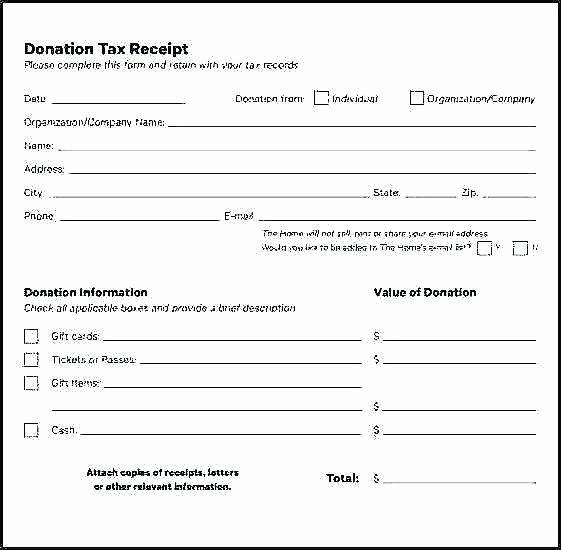 Tax Deductible Receipt Template Fresh Church Donation Template City Harvest Sample Campaign