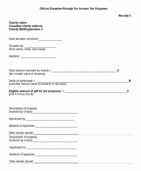 Tax Deductible Receipt Template Fresh Donation Receipt Template Doc Tax Church – Studiorc