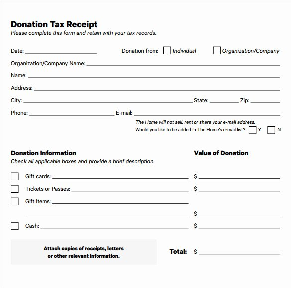 Tax Deductible Receipt Template New 23 Donation Receipt Templates – Pdf Word Excel Pages