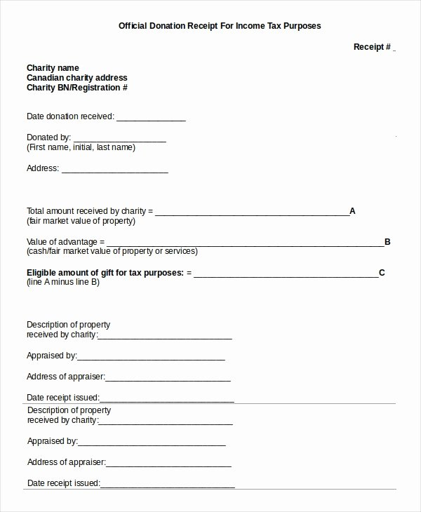 Tax Donation form Template Beautiful 15 Receipt Templates