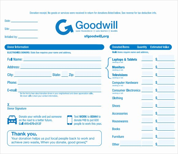 Tax Donation form Template Best Of 10 Donation Receipt Templates – Free Samples Examples