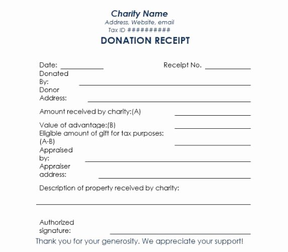 Tax Donation form Template Elegant 16 Donation Receipt Template Samples