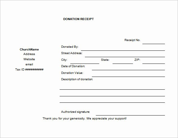 Tax Donation form Template Luxury 10 Donation Receipt Templates Doc Pdf