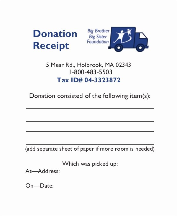 Tax Donation Receipt Template Inspirational 15 Receipt Templates