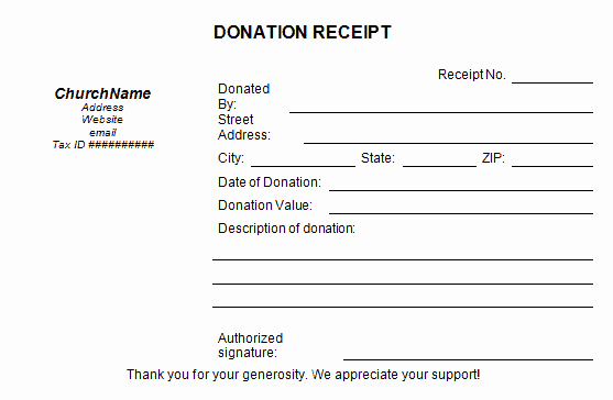 Tax Donation Receipt Template New 50 Free Receipt Templates Cash Sales Donation Taxi