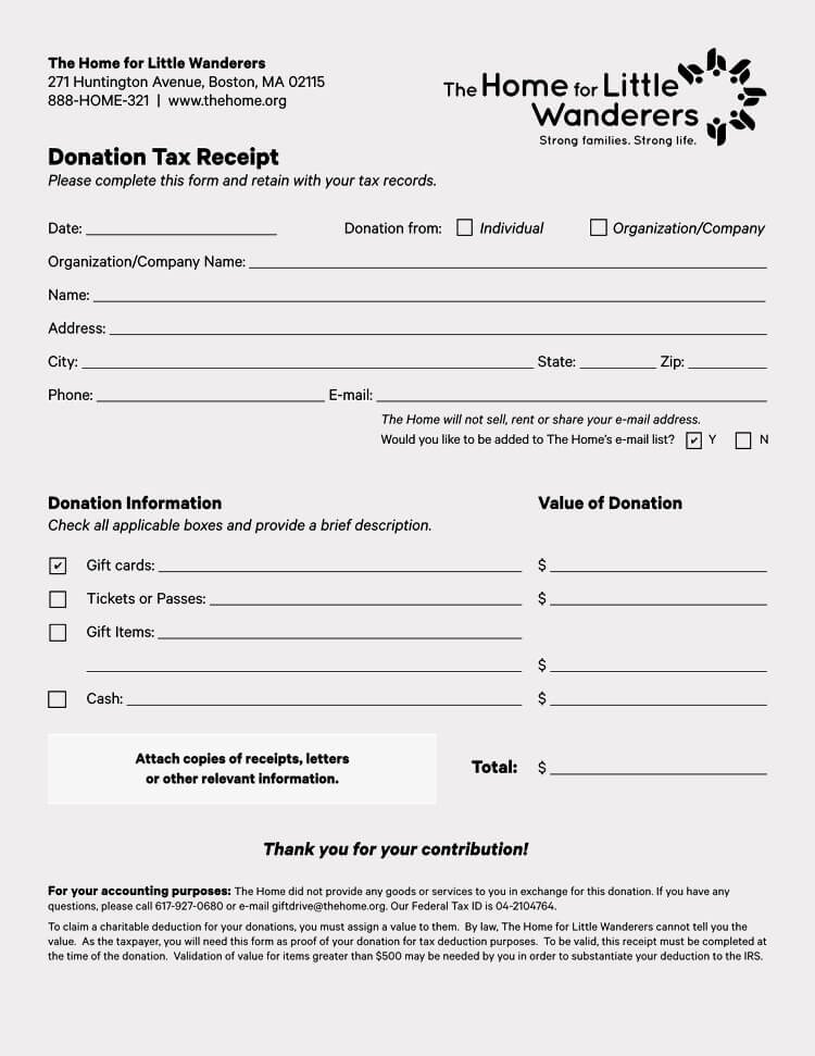 Tax Donation Receipt Template Unique 45 Free Donation Receipt Templates & formats Docx Pdf