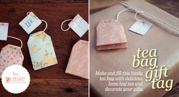 Tea Bag Tags Template Luxury Tea Bag Gift Tag Tutorial