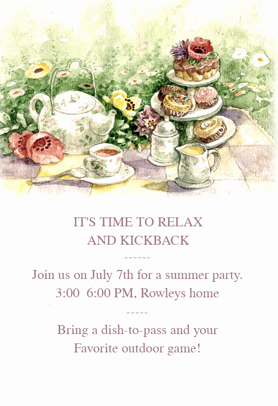 Tea Party Invitation Template Awesome Tea Party Free Dinner Party Invitation Template
