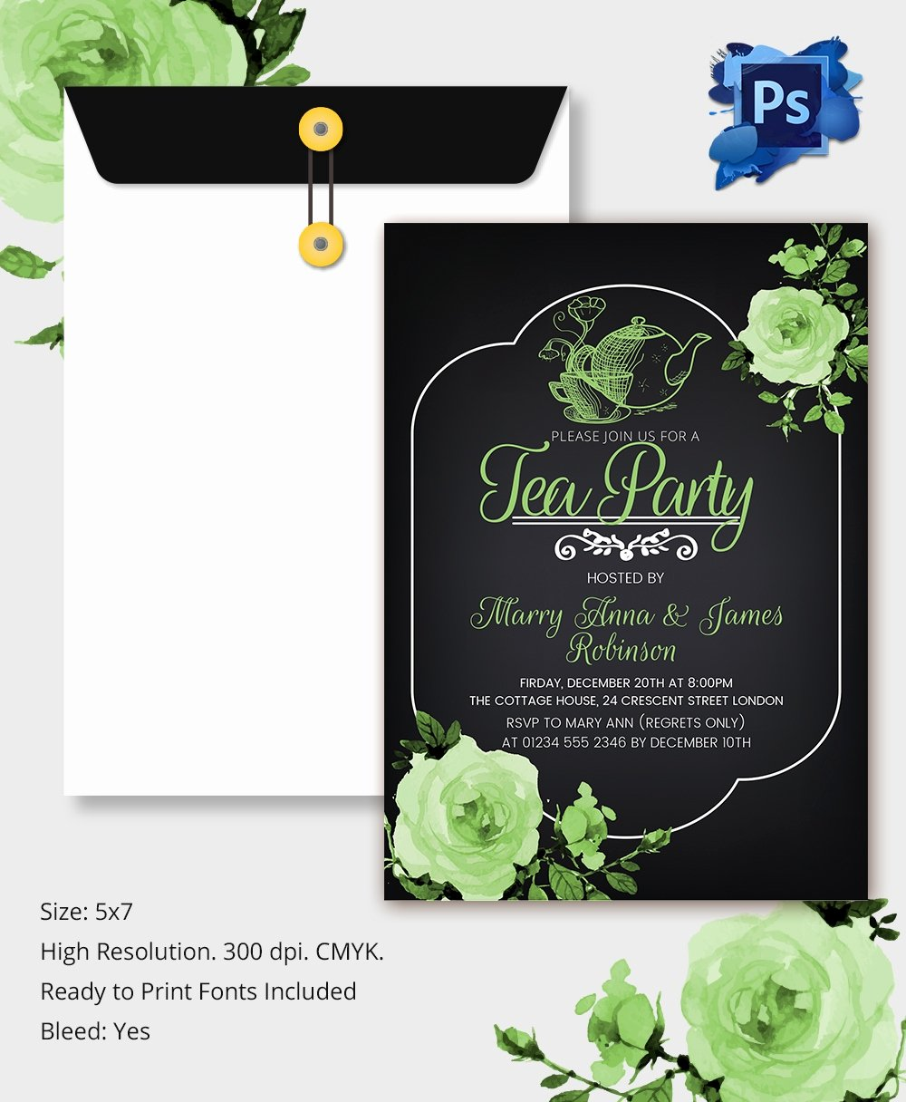 Tea Party Invitation Template Beautiful 22 Tea Party Invitation Templates