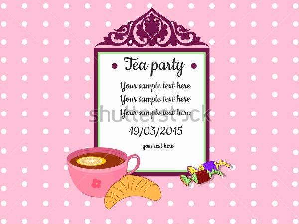 Tea Party Invitation Template Beautiful 41 Tea Party Invitation Templates Psd Ai