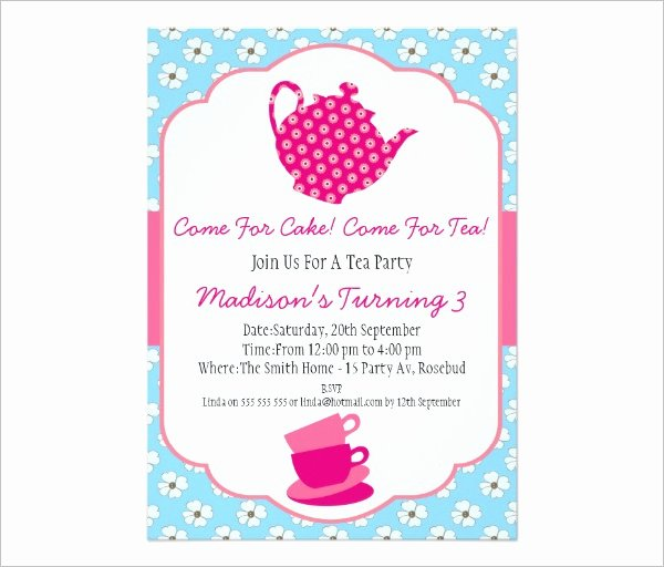 Tea Party Invitation Template Best Of 41 Tea Party Invitation Templates Psd Ai