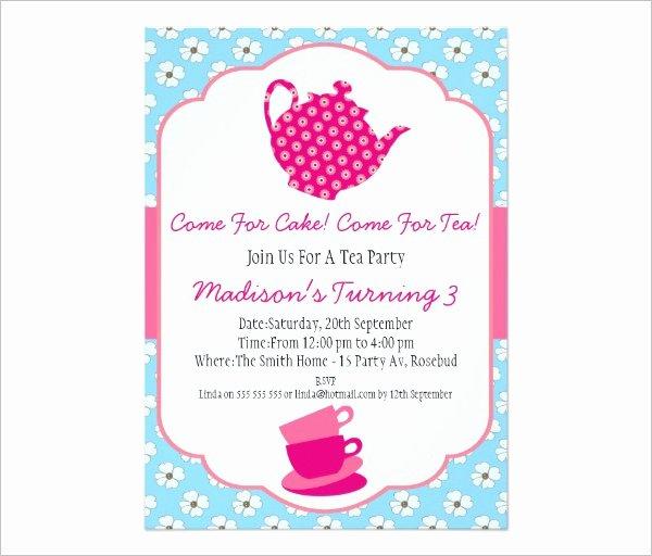 Tea Party Invitation Template Best Of 41 Tea Party Invitation Templates Psd Ai