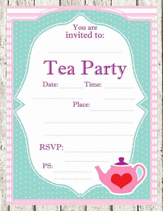 Tea Party Invitation Template Elegant 12 Cool Mad Hatter Tea Party Invitations