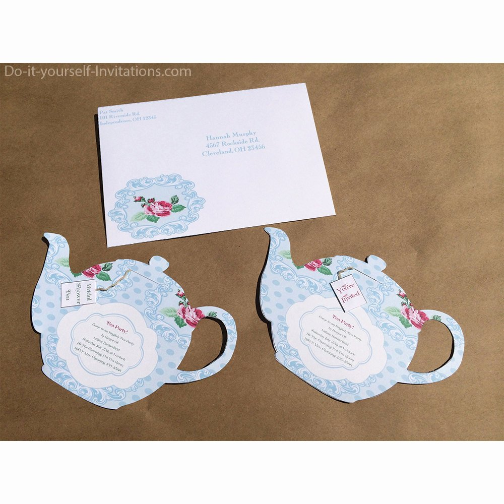 Tea Party Invitation Template Elegant Printable Tea Party Invitation Bridal Tea Party Invitation