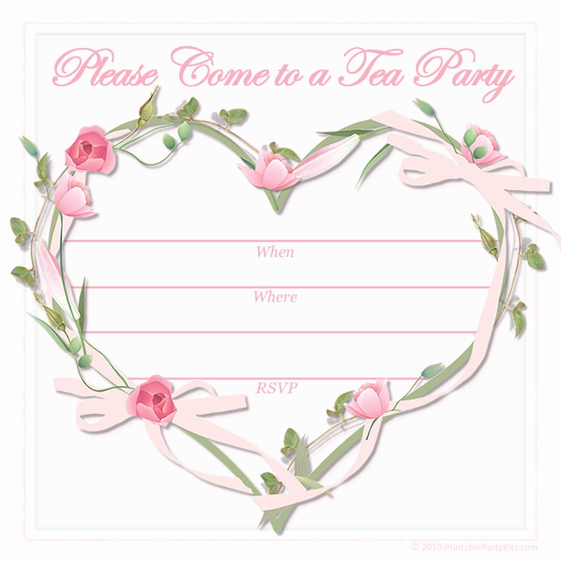 Tea Party Invitation Template Inspirational Free Printable Party Invitations Free Printable Pink Tea
